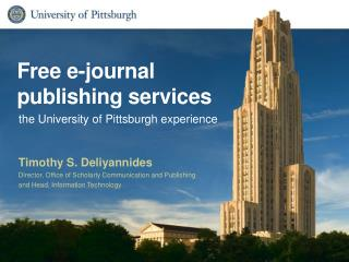 Free e-journal publishing services
