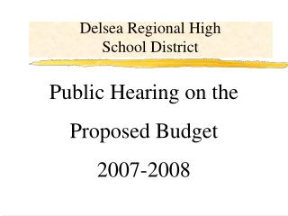 Delsea Regional High School District