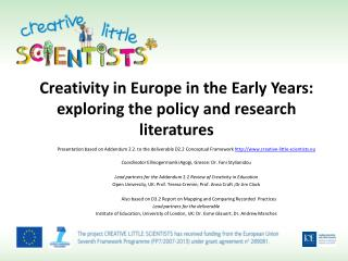 Creativity in Europe in the Early Years: exploring the policy and research literatures