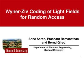 Wyner-Ziv Coding of Light Fields for Random Access