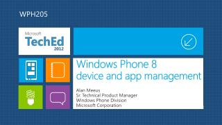 Windows Phone 8 d evice and app management