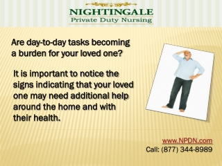 NPDN Offers Quality Senior Home Care for Your Elder Loved 1