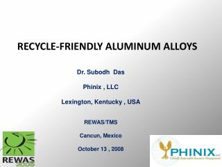 RECYCLE-FRIENDLY ALUMINUM ALLOYS