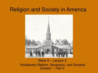 Religion and Society in America