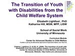 The Transition of Youth with Disabilities from the Child Welfare System
