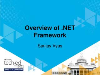Overview of .NET Framework