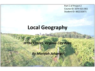 Local Geography Part C Project 2