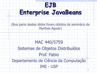 EJB Enterprise JavaBeans
