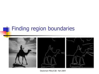 Finding region boundaries