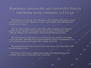 Assisted living Chicago