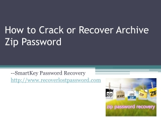 How to Crack or Recover Archive Zip Password