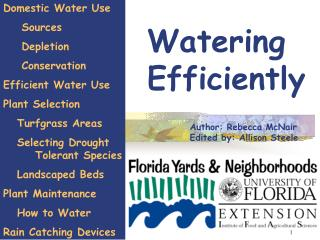Watering Efficiently