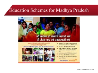Education Schemes For Scheduled Cast - Madhya Pradesh Educat