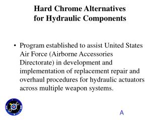 Program established to assist United States Air Force Airborne Accessories Directorate in development and implementation