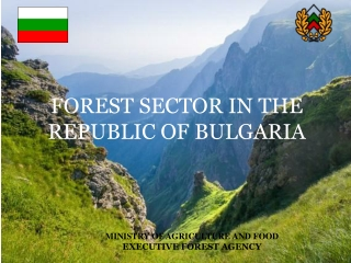 MINISTRY OF AGRICULTURE AND FOOD EXECUTIVE FOREST AGENCY