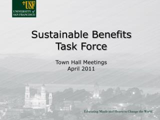 Sustainable Benefits Task Force
