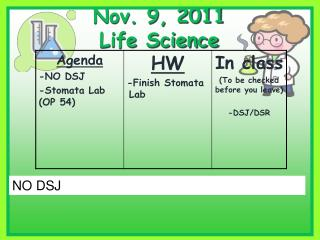 Nov. 9, 2011 Life Science