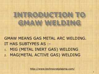 Gas Metal Arc Welding Machine