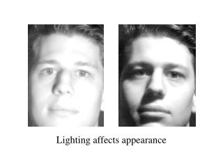 Lighting affects appearance