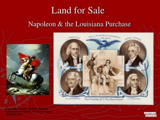 Land for Sale  Napoleon  the Louisiana Purchase