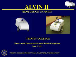 ALVIN II FROM DESIGN TO FINISH