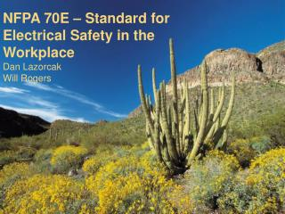 NFPA 70E – Standard for Electrical Safety in the Workplace Dan Lazorcak Will Rogers