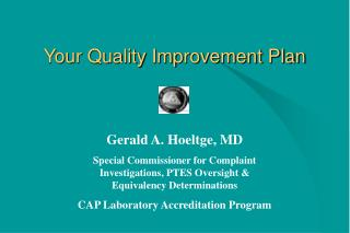 Your Quality Improvement Plan