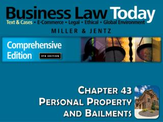 Chapter 43 Personal Property and Bailments