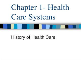 Chapter 1- Health Care Systems