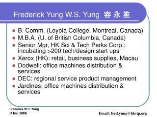 Frederick Yung W.S. Yung   ? ? ?