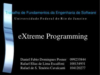 Trabalho de Fundamentos da Engenharia de Software