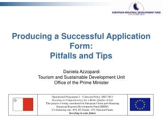 Producing a Successful Application Form: Pitfalls and Tips
