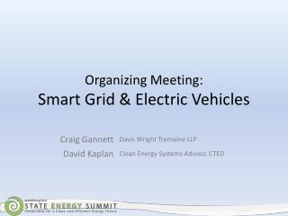 Organizing Meeting: Smart Grid & Electric Vehicles