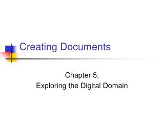 Creating Documents