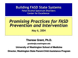Building FASD State Systems Fetal Alcohol Spectrum Disorders  Center for Excellence