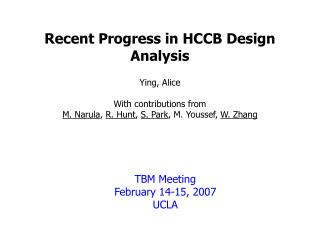 Recent Progress in HCCB Design Analysis