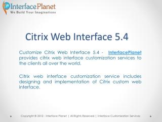 Custom Citrix Web Interface 5.4