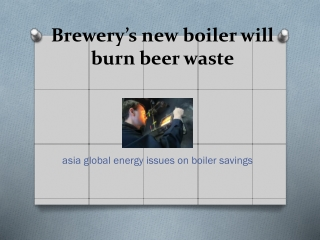 Brewery's new boiler will burn beer waste