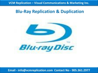 Blu Ray authoring, Blu-ray Authoring Services Toronto | VCM