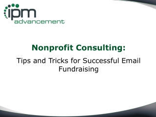 Nonprofit Consulting: Tips and Tricks for Successful Email
