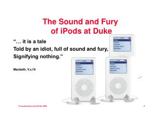 The Sound and Fury of iPods at Duke