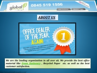 Green Office and Green Office Supplies
