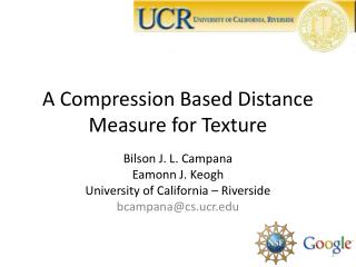A Compression Based Distance Measure for Texture
