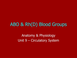 ABO system & R factors