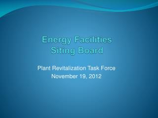 Energy Facilities  Siting Board