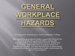 General Workplace Hazards