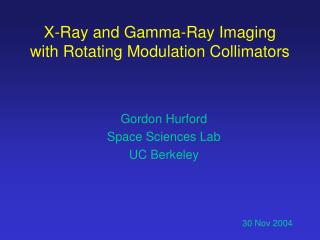 X-Ray and Gamma-Ray Imaging with Rotating Modulation Collimators