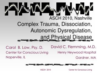 ASCH 2010, Nashville Complex Trauma, Dissociation, Autonomic Dysregulation,  and Physical Disease