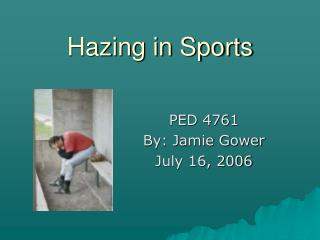 Hazing in Sports