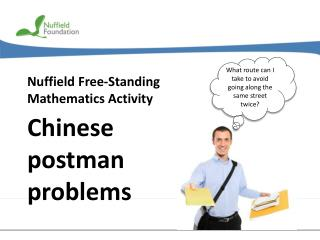 Nuffield Free-Standing Mathematics Activity
